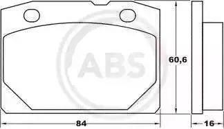 A.B.S. 36080 - Комплект тормозных колодок, дисковый тормоз autodif.ru