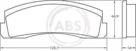 A.B.S. 36136 - Комплект тормозных колодок, дисковый тормоз autodif.ru