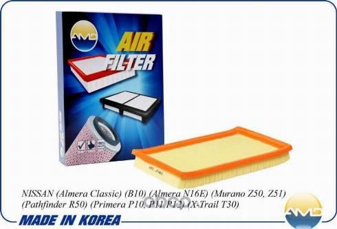 AMD AMD.JFA89 - Воздушный фильтр autodif.ru