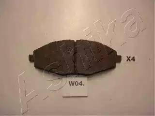 Ashika 50-W0-004 - Комплект тормозных колодок, дисковый тормоз autodif.ru