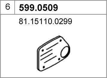 ASSO 599.0509 - Монтажный комплект, глушитель autodif.ru