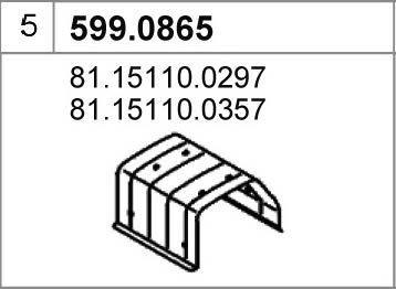 ASSO 599.0865 - Монтажный комплект, глушитель autodif.ru