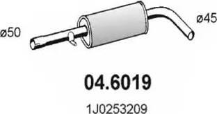 ASSO 04.6019 - Средний глушитель выхлопных газов autodif.ru