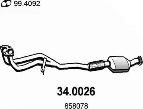 ASSO 34.0026 - Катализатор autodif.ru
