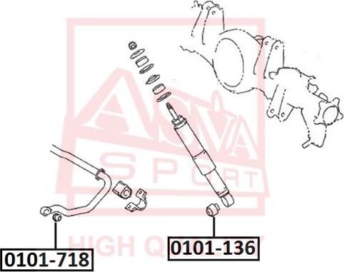 ASVA 0101718 - Подвеска, рычаг независимой подвески колеса autodif.ru