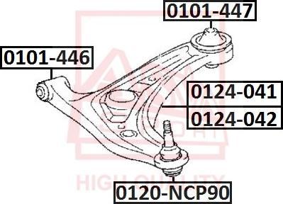 ASVA 0120-NCP90 - Несущий / направляющий шарнир autodif.ru