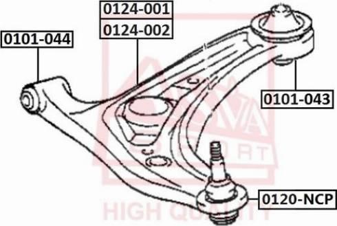ASVA 0120NCP - Несущий / направляющий шарнир autodif.ru