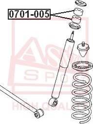 ASVA 0701005 - Подвеска, рычаг независимой подвески колеса autodif.ru