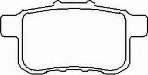 ASVA AKD8161 - Комплект тормозных колодок, дисковый тормоз autodif.ru