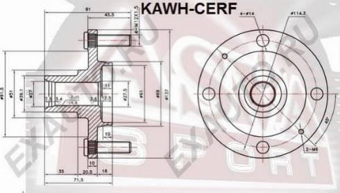 ASVA KAWHCERF - Ступица колеса autodif.ru