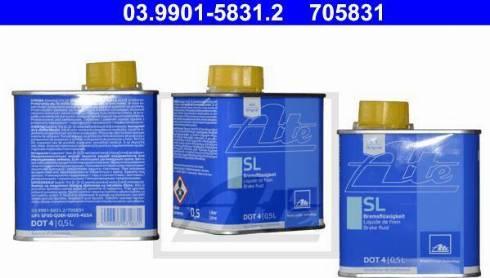 ATE 03990158312 - Тормозная жидкость autodif.ru