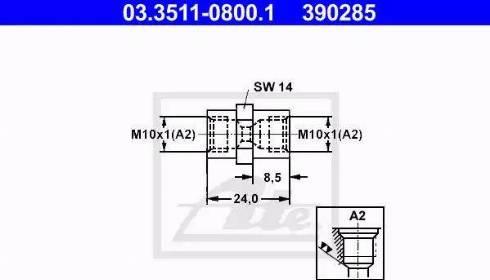 ATE 03351108001 - Адаптер, трубопровод тормозного привода autodif.ru