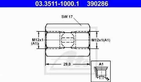 ATE 03351110001 - Адаптер, трубопровод тормозного привода autodif.ru