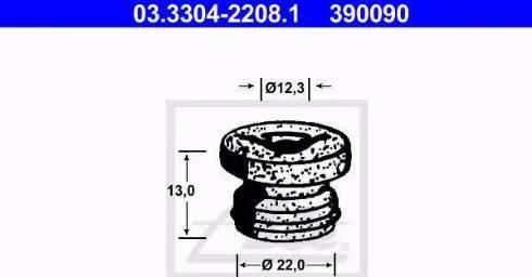 ATE 03.3304-2208.1 - Пробка, бачок тормозной жидкости autodif.ru