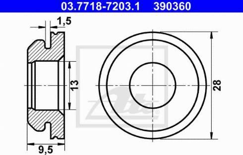 ATE 03771872031 - Прокладка, вакуумный соединитель BKV autodif.ru