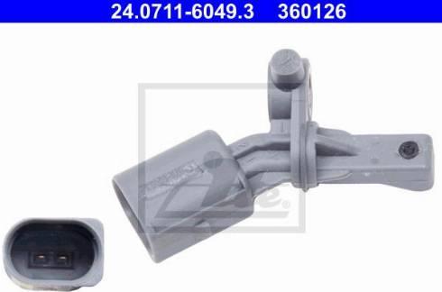 ATE 24.0711-6049.3 - Датчик ABS, частота вращения колеса autodif.ru