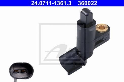 ATE 24.0711-1361.3 - Датчик ABS, частота вращения колеса autodif.ru