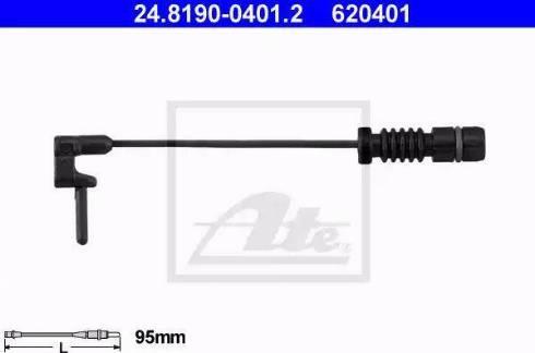 ATE 24819004012 - Сигнализатор, износ тормозных колодок autodif.ru