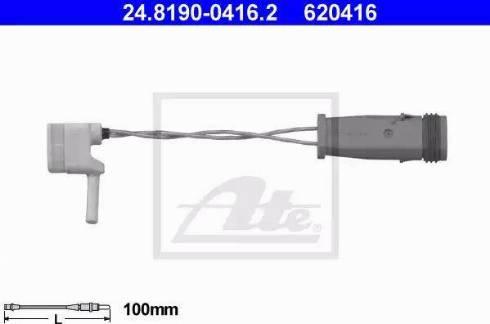ATE 24.8190-0416.2 - Сигнализатор, износ тормозных колодок autodif.ru