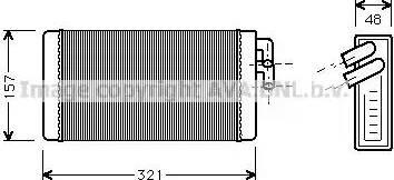 Ava Quality Cooling AI6052 - Теплообменник, отопление салона autodif.ru