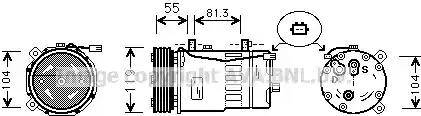 Ava Quality Cooling AIAK001 - Компрессор, кондиционер autodif.ru