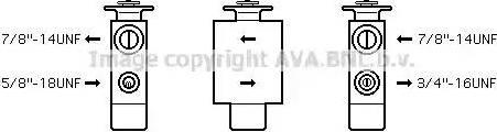 Ava Quality Cooling BW1093 - Расширительный клапан, кондиционер autodif.ru