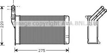 Ava Quality Cooling CN6082 - Теплообменник, отопление салона autodif.ru