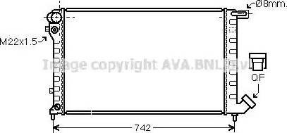 Ava Quality Cooling CN2145 - Радиатор, охлаждение двигателя autodif.ru