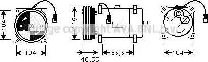 Ava Quality Cooling CNAK161 - Компрессор, кондиционер autodif.ru