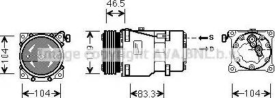 Ava Quality Cooling CNAK201 - Компрессор, кондиционер autodif.ru