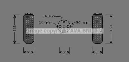 Ava Quality Cooling DND037 - Осушитель, кондиционер autodif.ru