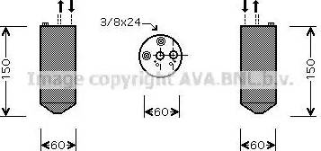 Ava Quality Cooling DND236 - Осушитель, кондиционер autodif.ru