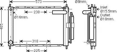 Ava Quality Cooling DNM370 - Модуль охлаждения autodif.ru