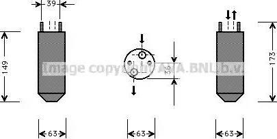 Ava Quality Cooling DWD023 - Осушитель, кондиционер autodif.ru