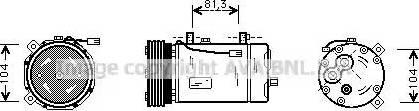 Ava Quality Cooling FDAK267 - Компрессор, кондиционер autodif.ru