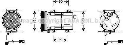 Ava Quality Cooling FDAK284 - Компрессор, кондиционер autodif.ru