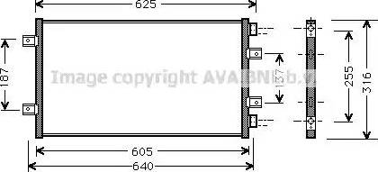 Ava Quality Cooling FT5247 - Конденсатор, кондиционер autodif.ru