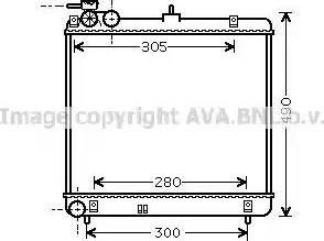 Ava Quality Cooling HY2192 - Радиатор, охлаждение двигателя autodif.ru