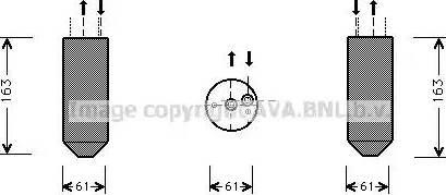 Ava Quality Cooling MSD362 - Осушитель, кондиционер autodif.ru