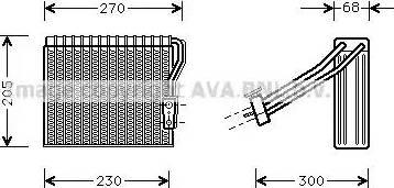 Ava Quality Cooling MSV051 - Испаритель, кондиционер autodif.ru