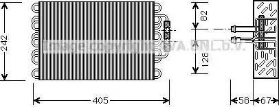 Ava Quality Cooling MSV008 - Испаритель, кондиционер autodif.ru