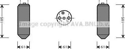 Ava Quality Cooling MTD151 - Осушитель, кондиционер autodif.ru