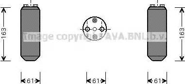 Ava Quality Cooling MZD150 - Осушитель, кондиционер autodif.ru