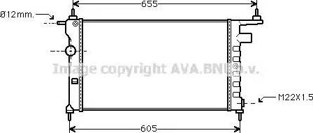 Ava Quality Cooling OLA2183 - Радиатор, охлаждение двигателя autodif.ru
