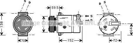 Ava Quality Cooling OLAK279 - Компрессор, кондиционер autodif.ru