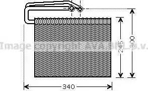 Ava Quality Cooling OLV399 - Испаритель, кондиционер autodif.ru