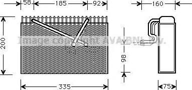 Ava Quality Cooling OLV298 - Испаритель, кондиционер autodif.ru