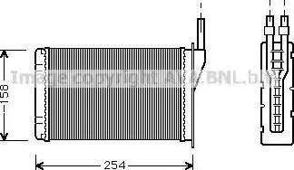 Ava Quality Cooling RT6087 - Теплообменник, отопление салона autodif.ru