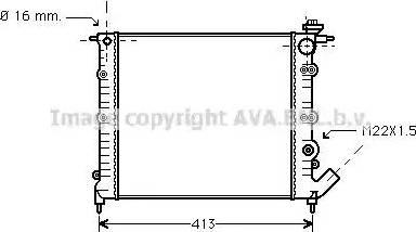 Ava Quality Cooling RT2120 - Радиатор, охлаждение двигателя autodif.ru