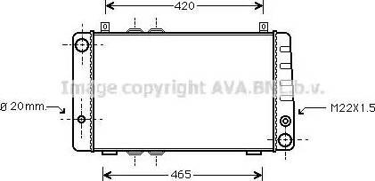 Ava Quality Cooling SA2002 - Радиатор, охлаждение двигателя autodif.ru